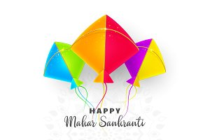 Makar Sankranti holiday design with