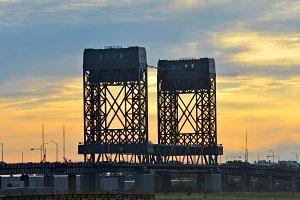 Twin Bridges at Sunset Photo