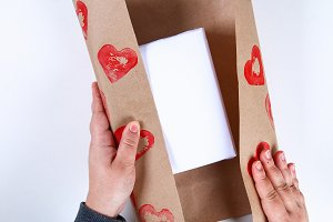 Diy. Gift wrapping for Valentine's D