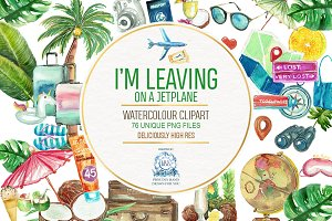 Travel Watercolor Clipart 76 PNG