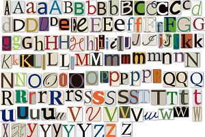 Newspaper Alphabet Clipart & Vectors