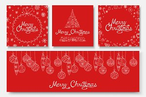Christmas beauty hand drawn cards