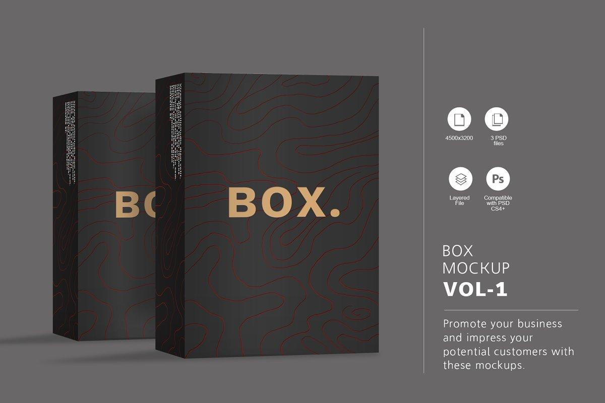 9e61a9771c93 Box Mockup Vol.1 ~ Product Mockups ~ Creative Market