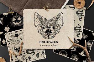 Halloween Vintage Graphics Set
