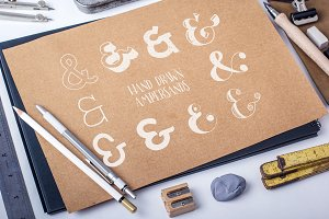 Hand Drawn Awesome Ampersands