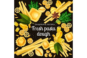 Italian pasta dough and spices