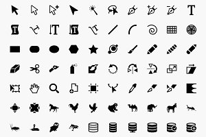 Awesome 1,800 icons - Multicons Set