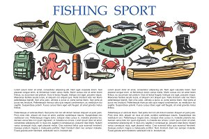Fishing sport equipment, tackles