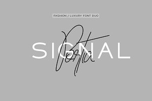 Portia & Signal Duo - Fashion Fonts
