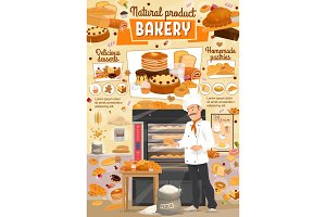 Bakery bread and dessert, baker shop