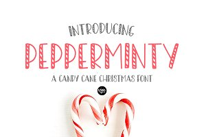 PEPPERMINTY CandyCane Christmas Font