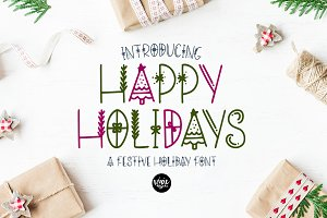 HAPPY HOLIDAYS Christmas Font