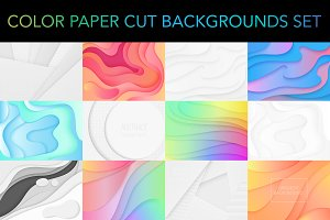 Color paper cut backgrounds