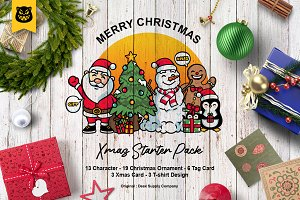 Christmas Vector Pack + Tag & Card