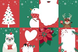 Set of christmas card design