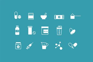 15 Vitamin Supplement Icons