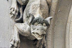Gargoyles on a wall