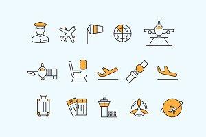 15 Aviation Icons