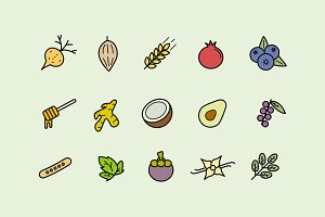 15 Superfood Icons