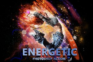 Energetic Photoshop Action