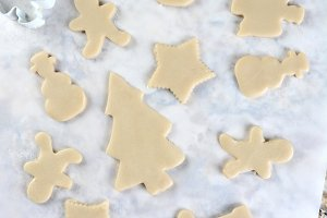 Christmas Shape Cookie Dough