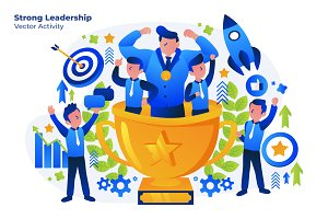 Strong Leaders - Vector Illustration