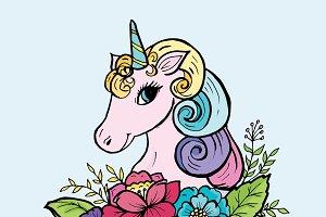 Doodle cute unicorn