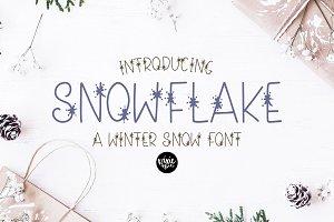 SNOWFLAKE a Winter Snow Font