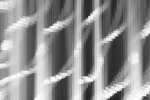 Diagonal black and white 3d blocks s