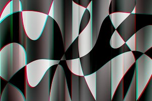 Abstract curved shapes with chroma a