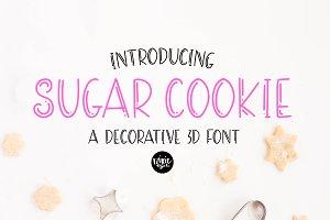 SUGAR COOKIE Decorative 3D Sans Font