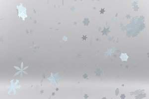 Christmas falling snow isolated