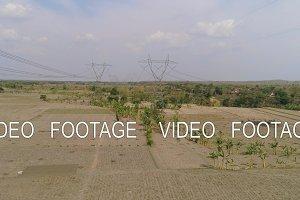 High voltage power line.