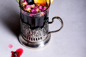 Christmas mulled wine or gluhwein. H