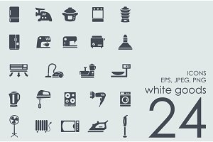 24 white goods icons