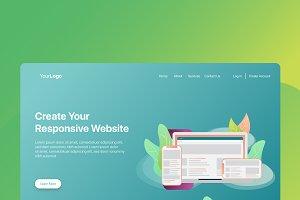 Web Responsive - Banner & Landing