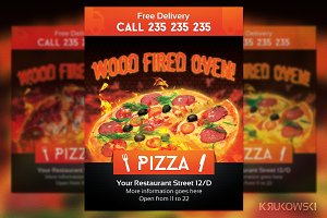 Wood Oven Pizza Flyer
