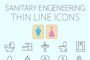 Sanitary engineering vector icon