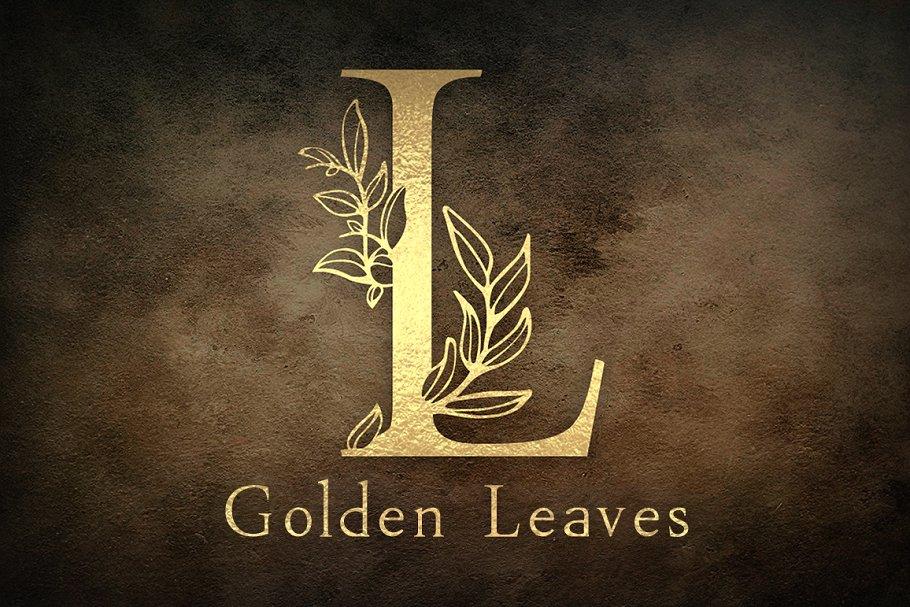 The Golden Leaves (svg,otf,ttf, png) ~ Display Fonts