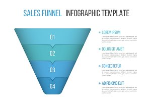Funnel Diagram Infographic Template