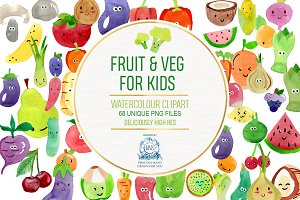 68 Fruit and Veg With Faces Bundle