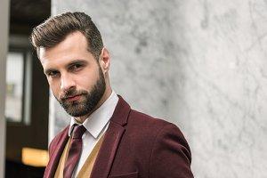 Handsome bearded businessman