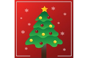 Vector of Christmas Tree Card