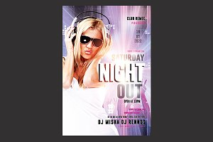 Saturday Night Out Flyer