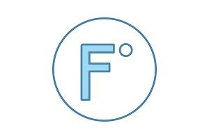Fahrenheit degrees temperature icon