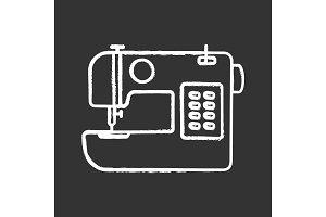 Sewing machine chalk icon
