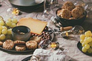 Dinner set table
