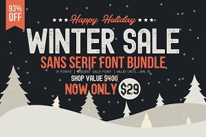⏱ WINTER SALE - Sans Serif Bundle!