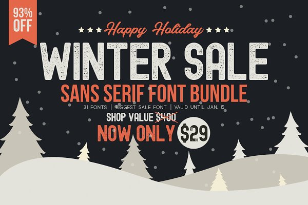 ⏱ WINTER SALE - Sans Serif Bundle!