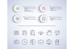 Infographic with Text, Icons Vector